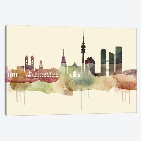 Munich Desert Style Skyline Canvas Print #WDA1550} by WallDecorAddict Canvas Artwork