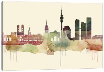 Munich Desert Style Skyline Canvas Art Print