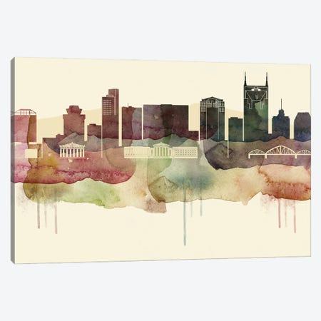 Nashville Desert Style Skyline Canvas Print #WDA1552} by WallDecorAddict Canvas Wall Art