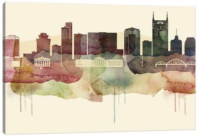 Nashville Desert Style Skyline Canvas Art Print
