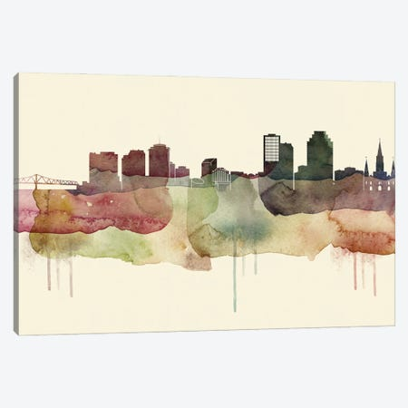 New Orleans Desert Style Skyline Canvas Print #WDA1553} by WallDecorAddict Canvas Wall Art