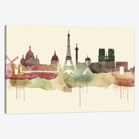 Paris Desert Style Skyline Canvas Print #WDA1559} by WallDecorAddict Canvas Wall Art