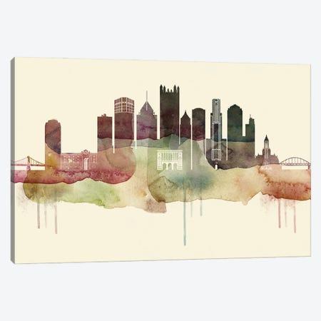 Pittsburgh Desert Style Skyline Canvas Print #WDA1562} by WallDecorAddict Canvas Art Print