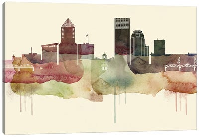 Portland Desert Style Skyline Canvas Art Print