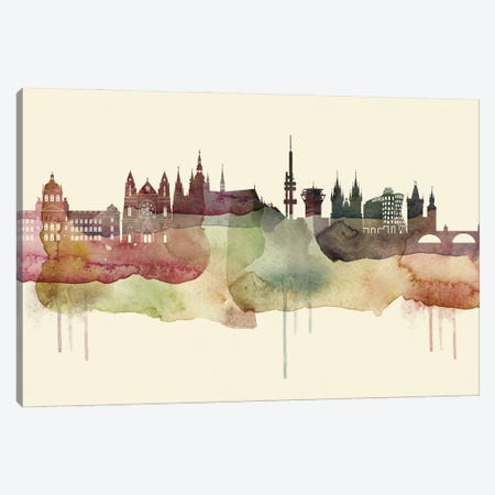 Prague Desert Style Skyline Canvas Print #WDA1564} by WallDecorAddict Canvas Wall Art