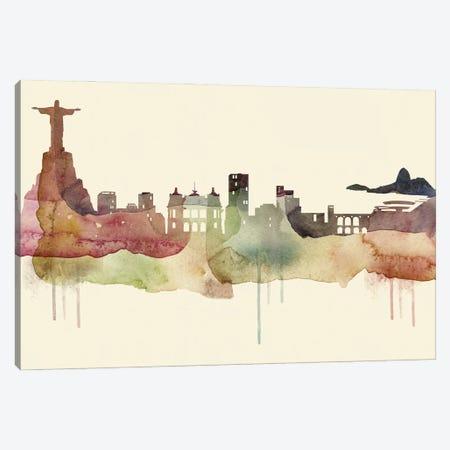 Rio De Janeiro Desert Style Skyline Canvas Print #WDA1569} by WallDecorAddict Art Print