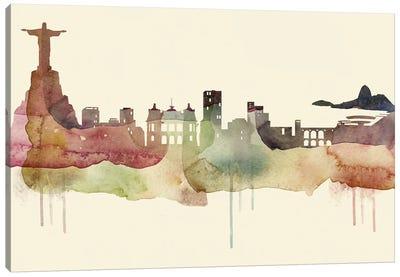 Rio De Janeiro Desert Style Skyline Canvas Art Print