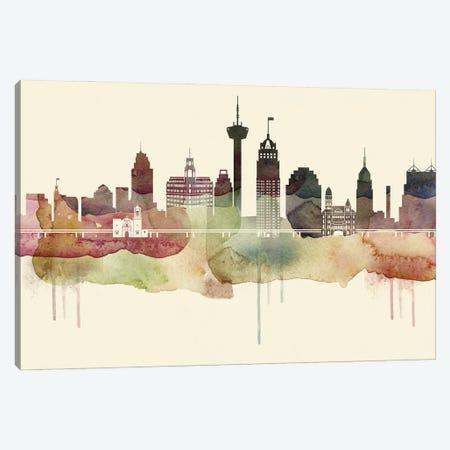 San Antonio Desert Style Skyline Canvas Print #WDA1571} by WallDecorAddict Canvas Artwork