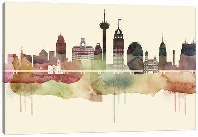 San Antonio Desert Style Skyline Canvas Art Print