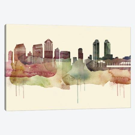 San Diego Desert Style Skyline Canvas Print #WDA1572} by WallDecorAddict Canvas Art