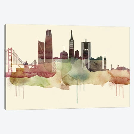 San Francisco Desert Style Skyline Canvas Print #WDA1573} by WallDecorAddict Canvas Artwork