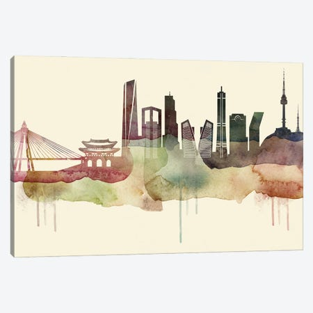 Seoul Desert Style Skyline Canvas Print #WDA1575} by WallDecorAddict Canvas Print