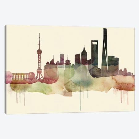 Shanghai Desert Style Skyline Canvas Print #WDA1576} by WallDecorAddict Art Print