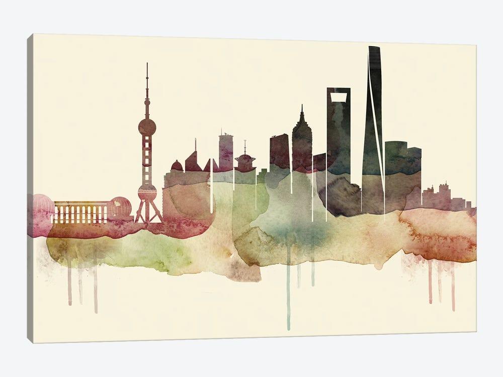 Shanghai Desert Style Skyline by WallDecorAddict 1-piece Canvas Art Print