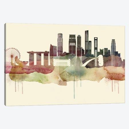 Singapore Desert Style Skyline Canvas Print #WDA1577} by WallDecorAddict Canvas Art Print