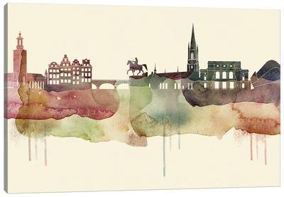 Stockholm Desert Style Skyline Canvas Art Print