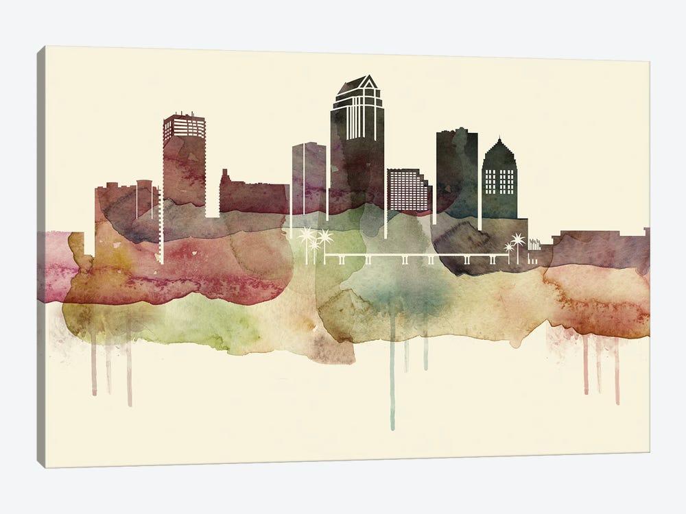 Tampa Desert Style Skyline by WallDecorAddict 1-piece Canvas Art