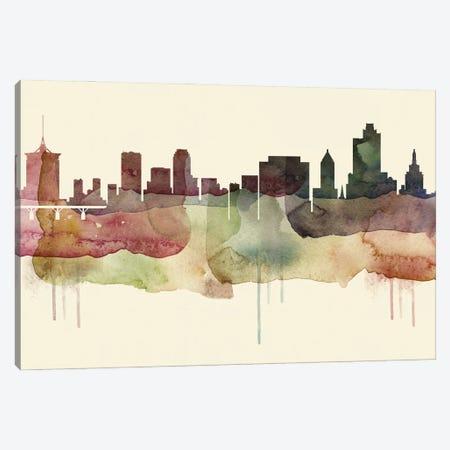 Tulsa Desert Style Skyline Canvas Print #WDA1581} by WallDecorAddict Canvas Art Print