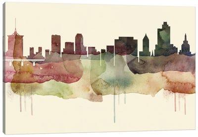 Tulsa Desert Style Skyline Canvas Art Print