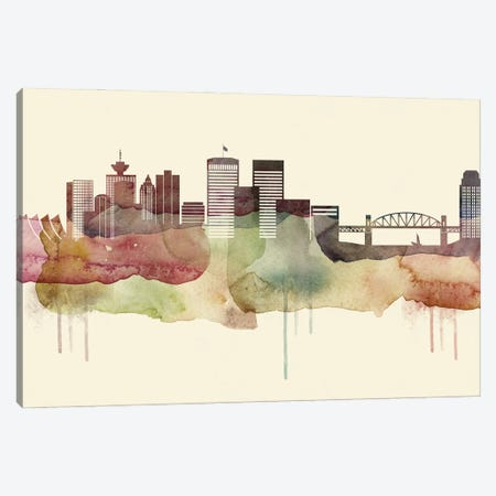Vancouver Desert Style Skyline Canvas Print #WDA1582} by WallDecorAddict Canvas Print