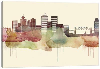 Vancouver Desert Style Skyline Canvas Art Print
