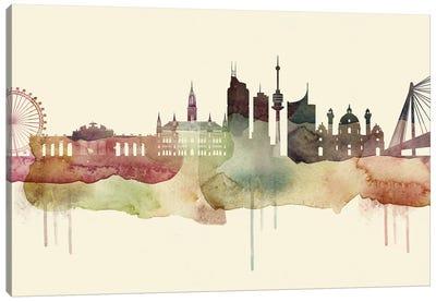 Vienna Desert Style Skyline Canvas Art Print
