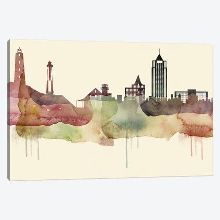 Virginia Beach Desert Style Skyline Canvas Print #WDA1585} by WallDecorAddict Canvas Wall Art
