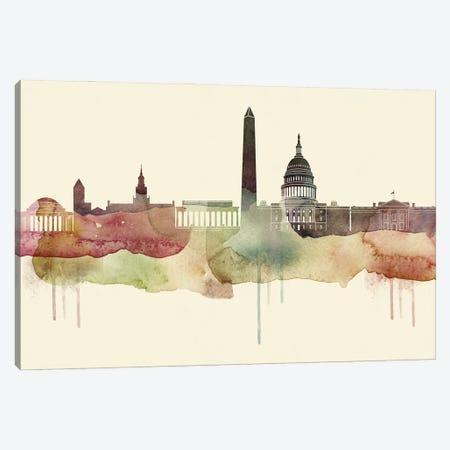 Washington Desert Style Skyline Canvas Print #WDA1586} by WallDecorAddict Canvas Wall Art