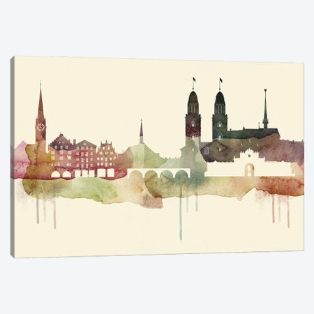 Zurich Desert Style Skyline Canvas Print #WDA1588} by WallDecorAddict Canvas Art Print