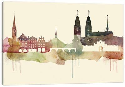 Zurich Desert Style Skyline Canvas Art Print