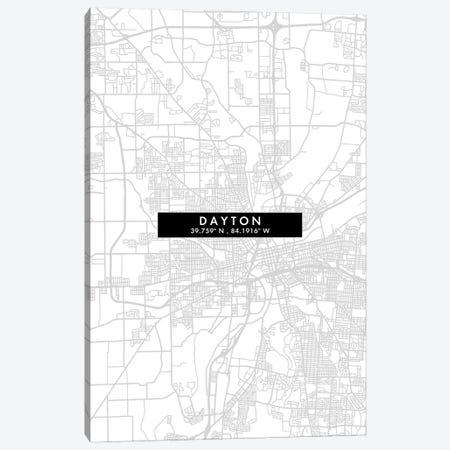 Dayton, Ohio, City Map Minimal Style Canvas Print #WDA1624} by WallDecorAddict Canvas Art Print