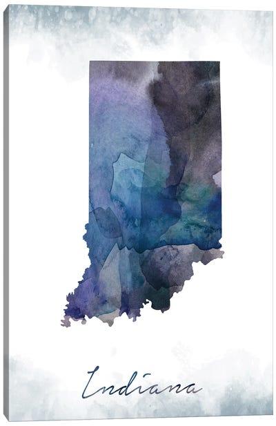 Indiana State Bluish Canvas Art Print