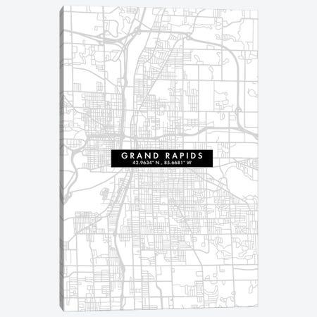 Grand Rapids, Michigan, City Map Minimal Style Canvas Print #WDA1633} by WallDecorAddict Canvas Print