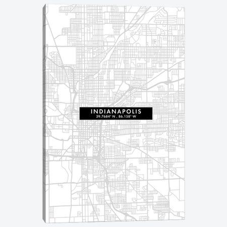Indianapolis City Map Minimal Style Canvas Print #WDA1639} by WallDecorAddict Canvas Print