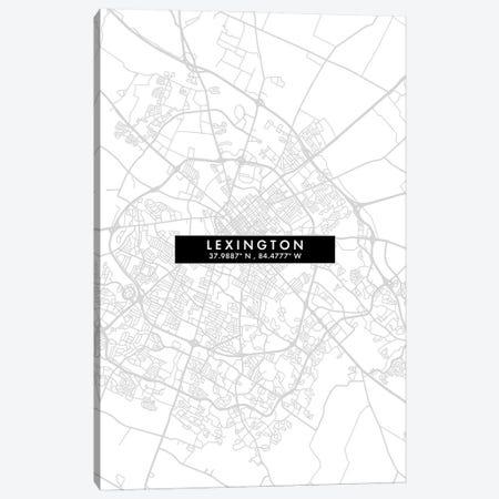 Lexington, Kentucky City Map Minimal Style Canvas Print #WDA1650} by WallDecorAddict Canvas Print