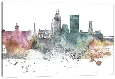 Indianapolis Pastel Skylines Canvas Art Print