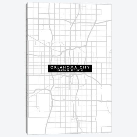 Oklahoma City Map Minimal Style Canvas Print #WDA1671} by WallDecorAddict Art Print