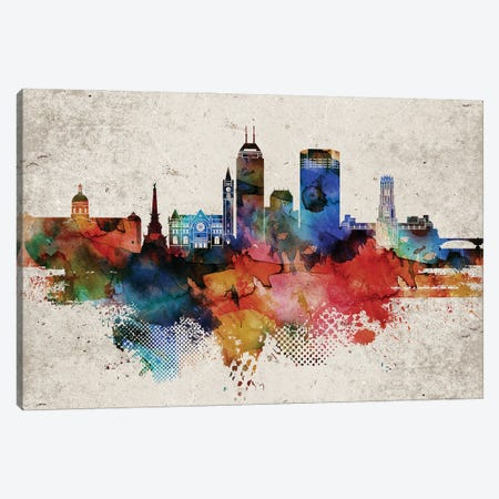 Indianapollis Abstract 3-Piece Canvas #WDA167} by WallDecorAddict Canvas Print