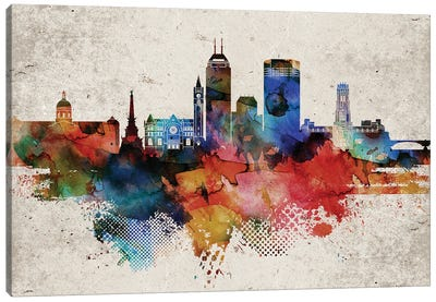 Indianapollis Abstract Canvas Art Print