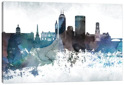 Indianapollis Bluish Skylines Canvas Art Print