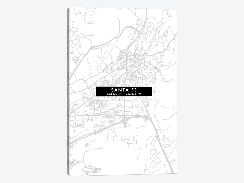Santa Fe, Argentina City Map Minimal Style by WallDecorAddict 1-piece Art Print