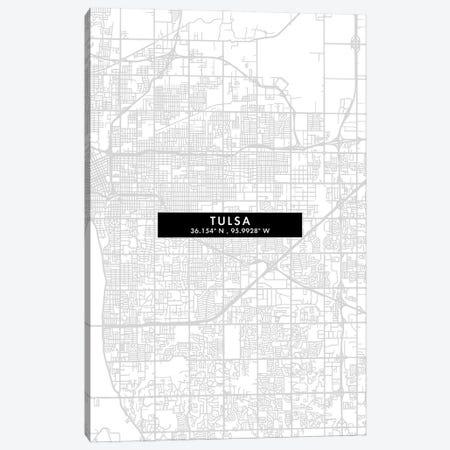 Tulsa City Map Minimal Style Canvas Print #WDA1708} by WallDecorAddict Canvas Art Print