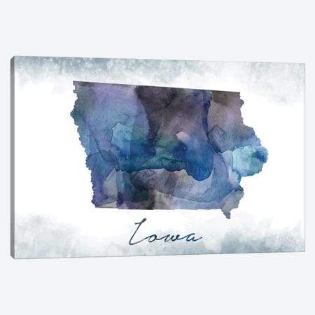 Iowa State Bluish Canvas Print #WDA171} by WallDecorAddict Canvas Art Print
