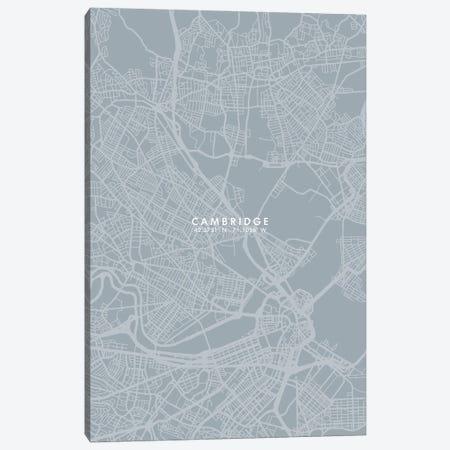 Cambridge City Map Grey Blue Style Canvas Print #WDA1735} by WallDecorAddict Art Print