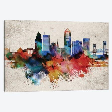 Jacksonville Abstract Canvas Print #WDA176} by WallDecorAddict Canvas Artwork
