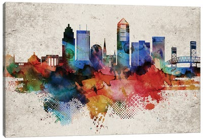 Jacksonville Abstract Canvas Art Print