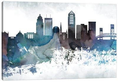 Jacksonville Bluish Skylines Canvas Art Print