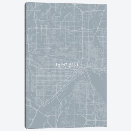 Saint Paul City Map Grey Blue Style Canvas Print #WDA1794} by WallDecorAddict Canvas Print
