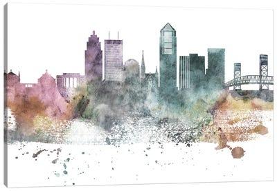 Jacksonville Pastel Skylines Canvas Art Print
