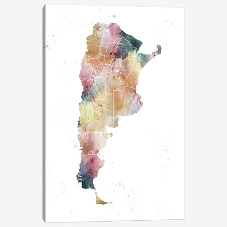 Argentina Nature Watercolor Canvas Print #WDA17} by WallDecorAddict Canvas Art Print